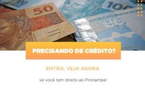 Precisando De Credito Entao Veja Se Voce Tem Direito Ao Pronampe - Contabilidade em Palmas