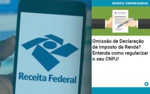 Omissao De Declaracao De Imposto De Renda Entenda Como Regularizar O Seu Cnpj - Contabilidade em Palmas