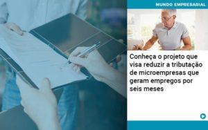Conheca O Projeto Que Visa Reduzir A Tributacao De Microempresas Que Geram Empregos Por Seis Meses - Contabilidade em Palmas