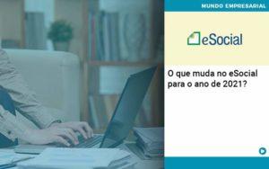 O Que Muda No Esocial Para O Ano De 2021 - Contabilidade em Palmas