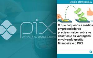 O Que Pequenos E Medios Empreendedores Precisam Saber Sobre Os Desafios E As Vantagens Envolvendo Gestao Financeira E O Pix  - Contabilidade em Palmas